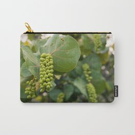 Tropical grapevine trees backlit by the sunset. Carry-All Pouch