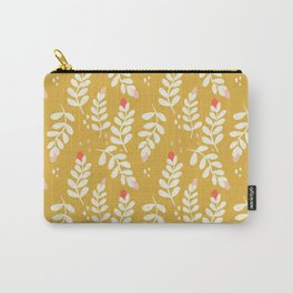 September Vines and Berries in Yellow Carry-All Pouch