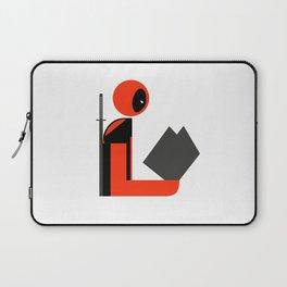 Dead Gentleman Reads Laptop Sleeve
