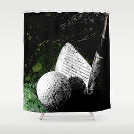 Golf art print work 9 Shower Curtain