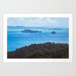 Travel Asia. Reaching the Beach Art Print