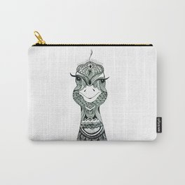 Pattern Peacock Carry-All Pouch