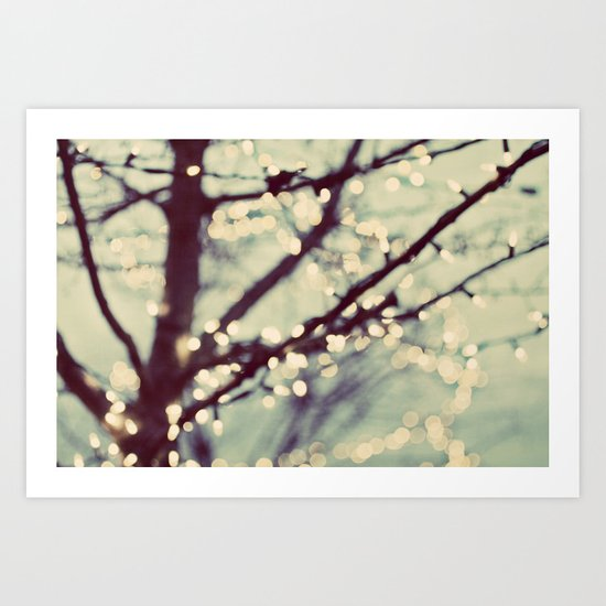 tree of lights Art Print