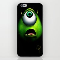mike wrobel iPhone & iPod Skins featuring mike wazowski by Dan Solo Galleries