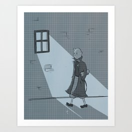The Belgian Journalist. Art Print