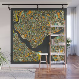ISTANBUL MAP Wall Mural