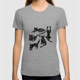 Cats Sketch T-shirt