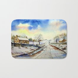 Wintery Lane Bath Mat