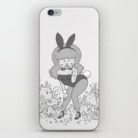 bunny iPhone & iPod Skins featuring bunny by James Murphy