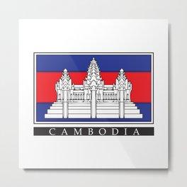 Cambodian Flag Metal Print