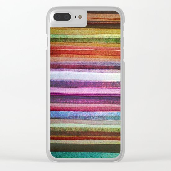 Happy rainbow water colors Clear iPhone Case