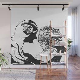 Secret 1.Black on white background.(ZOOM) Wall Mural
