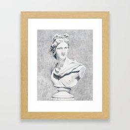 Apollo Bust Sculpture Framed Art Print