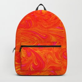 Orange on Fire with Swirls of Pink and Yellow Backpack
