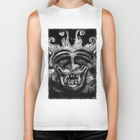mythology Biker Tanks featuring Shadow Beast Mythology by Anya Campbell by BohemianBound