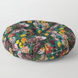 Botanical Multicolor Garden Floor Pillow