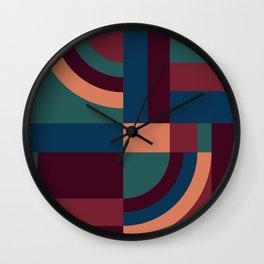 Velvet Blocks Wall Clock