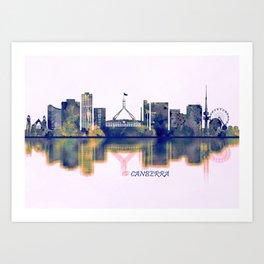 Canberra Skyline Art Print