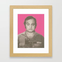Jake Blues Mug Shot - Pink Framed Art Print