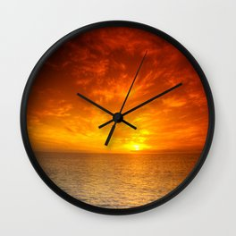Days End On The Water Wall Clock