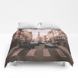 Vintage Paris, France (Color) Comforters