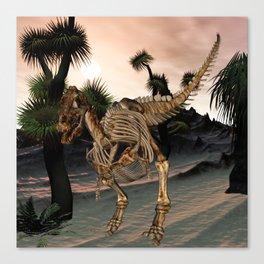 Awesome t-rex skeleton Canvas Print