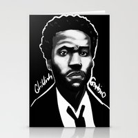 childish gambino Stationery Cards featuring Gambino Variant by Joshua Beckett