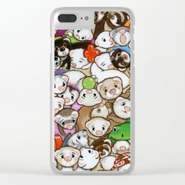 One Hundred Million Ferrets Clear iPhone Case