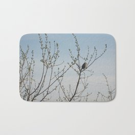Lone Sparrow Bath Mat