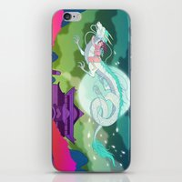 spirited away iPhone & iPod Skins featuring Spirited Away by Jen Bartel