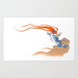 Prometheus Descending Art Print