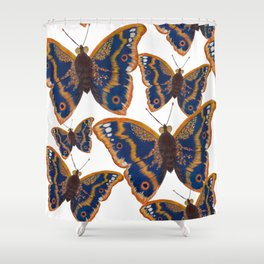Purple Emperor Butterflies Shower Curtain