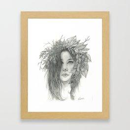 Brigid, Celtic Triple Goddess Framed Art Print