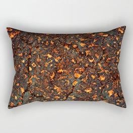A texture of lava. A raster illustration. Rectangular Pillow