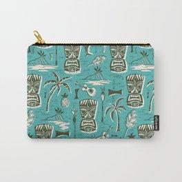 Tropical Tiki - Aqua Carry-All Pouch
