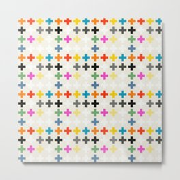 Cross Pattern Metal Print