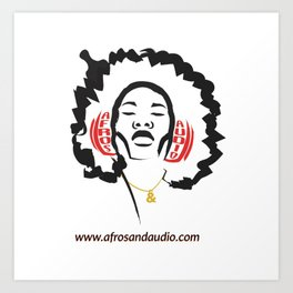 Afros & Audio Official Logo Art Print