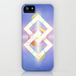 Linked Lilac Diamonds :: Floating Geometry iPhone Case