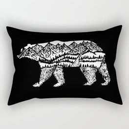 Bear Necessities in Black Rectangular Pillow