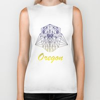 oregon Biker Tanks featuring Oregon by ArtsyKiwi