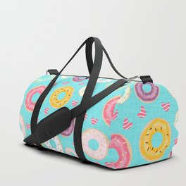 hearts and donuts blue Duffle Bag
