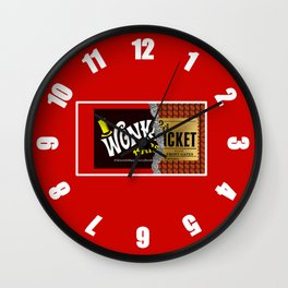 Willy Wonka Bar Wall Clock