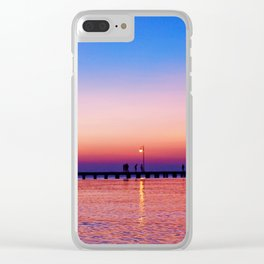 Aegean sunset Clear iPhone Case