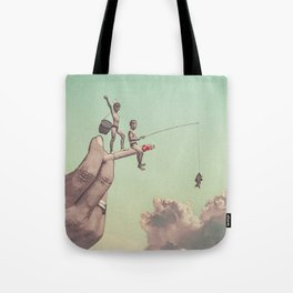 The dangers of happiness Tote Bag