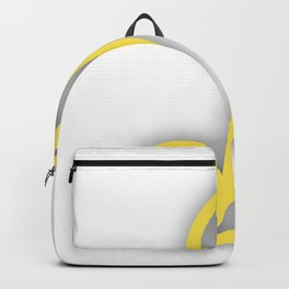 Letter J in Yellow Backpack