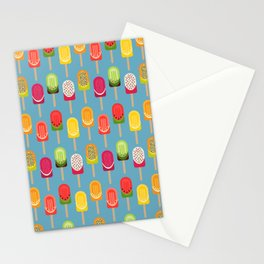 Fruit popsicles - blue version Stationery Cards
