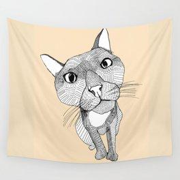 BigHead Cat Wall Tapestry