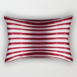 Red and White Organic Rib Cage Rectangular Pillow