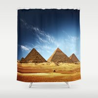 playstation Shower Curtains featuring Egypt by eARTh