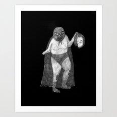 Zombies in my backyard: Nacho Libre Art Print